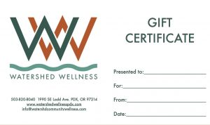 Gift Certificate WW - just one